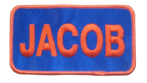 name patch rect like  u0026quot jacob u0026quot  patch  w   or w  o velcro back