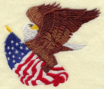 Bald Eagle W Flag Patch