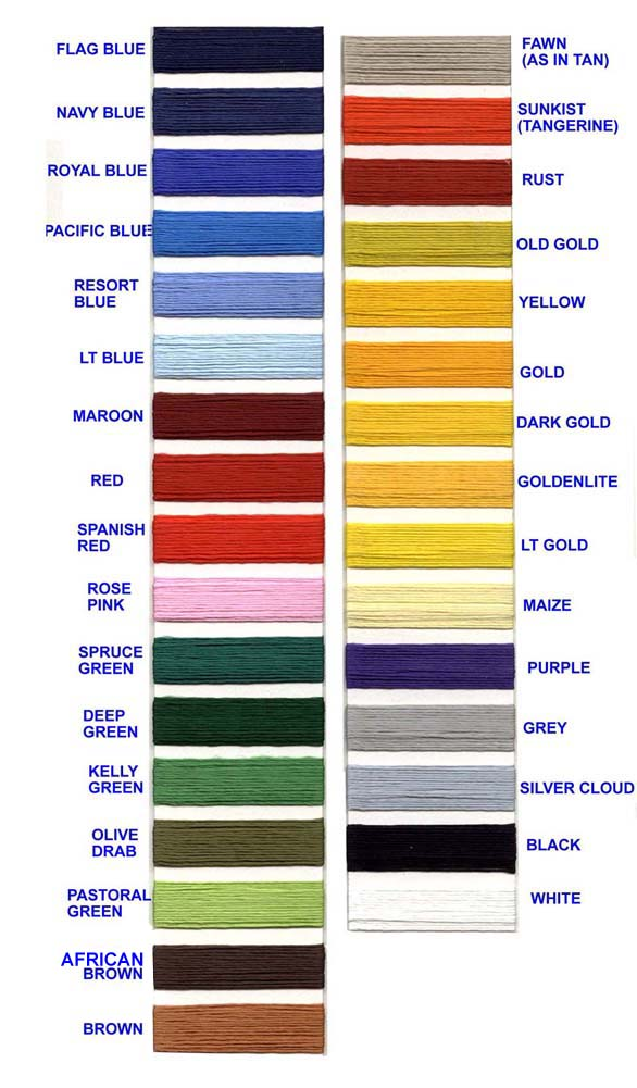 Border Color Chart