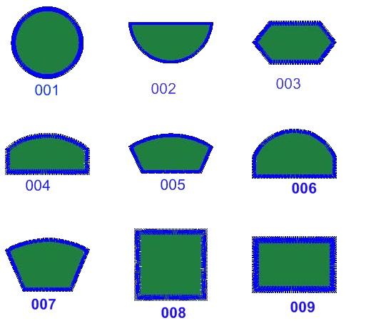 patch shapes