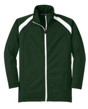 b7eade111 Youth Tricot Track Jacket. yst90 fgreen wh ...